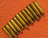 Twelve Assorted Brass Bullet Casings for Crafting