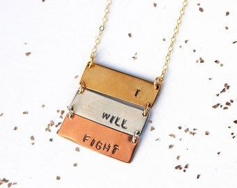 Mini ladder bar necklace