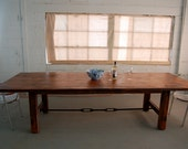 Custom H- Leg Farm Table with Turnbuckle