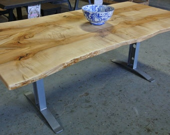 Custom Live Edge Table on I Beam Legs