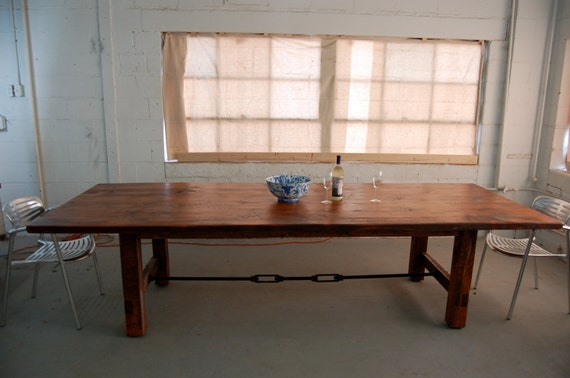 Custom H- Leg Farm Table with Turnbuckle