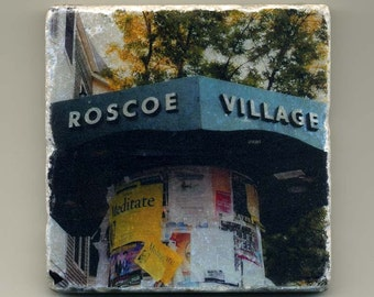 Roscoe Village Kiosk - Original Coaster