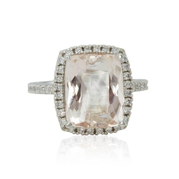 morganite ring unique engagement ring with 5 carat