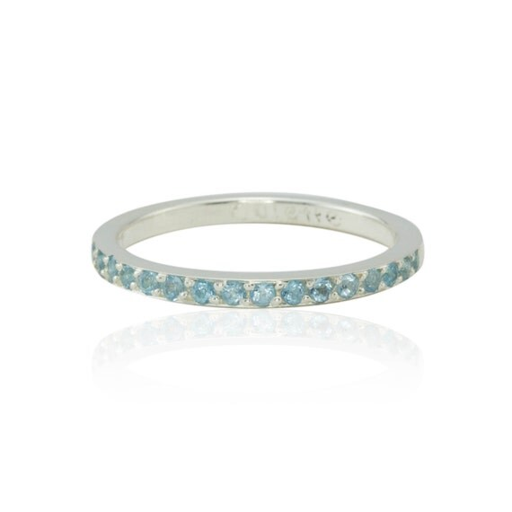 s ring 14k white gold simulated birthstone