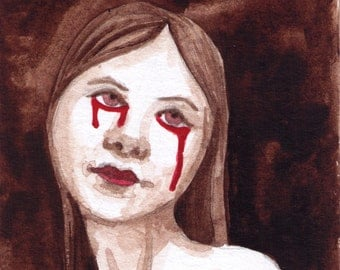 Painting-Woman with Tears of Blood