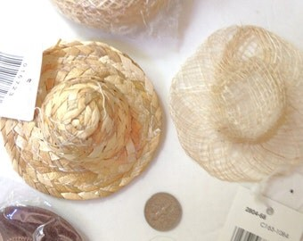 Doll Hat LOT of 145 Straw Hats