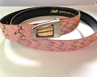 Pink Belt Snakeskin 80s XL