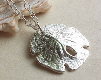 Sand Dollar Necklace - Sterling Silver - Bumpy - Nature Inspired - Organic - Beach Jewelry - Cottage Chic - Made In Brooklyn - Sea Biscuit