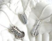 Silver Word Pendant