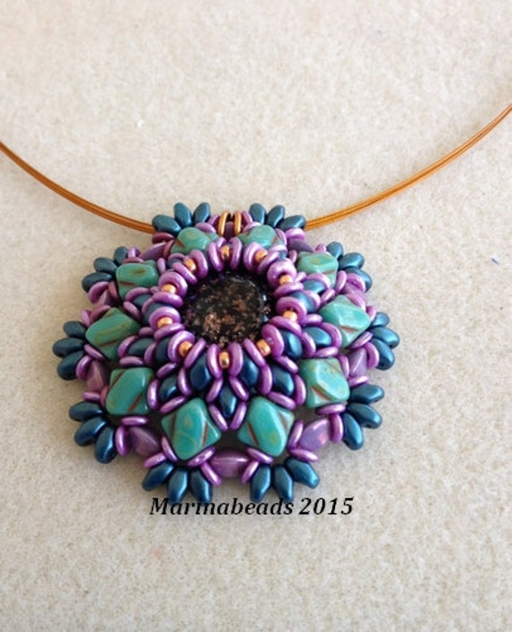 Beading Kit Hibiscus Pendant 2 Choices Of Colors