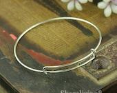 3pcs Silver Charm Bracelets, Expandable Bracelet, Adjustable Bracelet Bangle, Alex And Ani Style