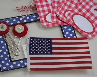 Patriotic Paper Pack - 4th of July Scrapbooking Embellishments
