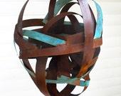 Sculptural Steel & Copper Bird Feeder 313 Freestanding unique modern bird feeder
