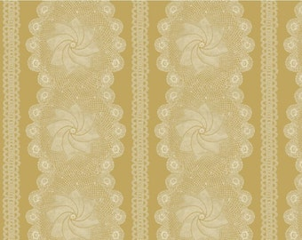FAT QUARTER Honeymoon Cottage Lace in Yellow by Blue Hill b7257-17 quilt cotton fabric