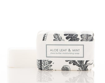 Shea Butter Soap - Aloe Leaf & Mint - Vegan