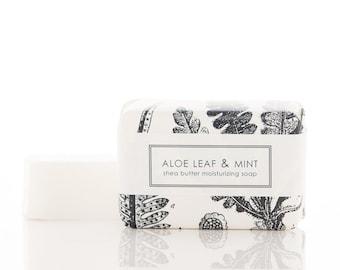 SALE Shea Butter Soap - Aloe Leaf & Mint - Vegan