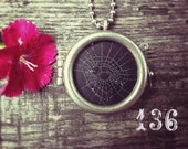 Charlotte's Web Talisman Necklace:  Real Spider Web #136 Three Realms
