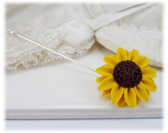 Sunflower Brooch or Stick Pin - Sunflower Jewelry