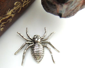 SILVER SPIDER Silver Ox Brass Stamping Jewelry Findings (C-1409) #