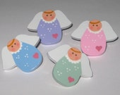Hand Painted Angel Push Pins Thumb Tacks for Bulletin Memo Message Memory Note Cork Board Free USA Shipping