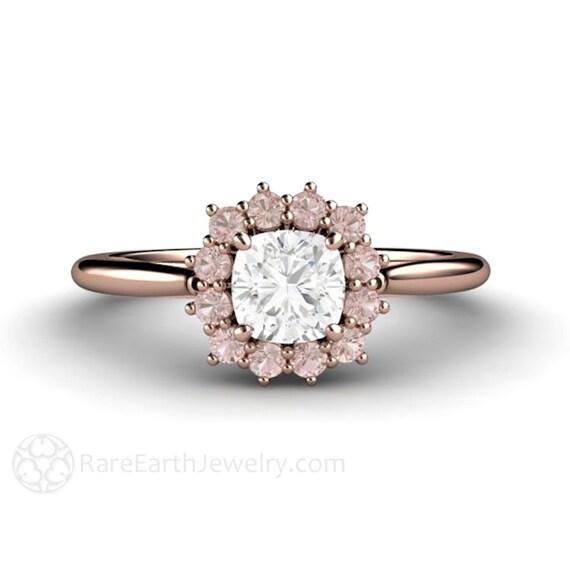 ring mit rosa stein