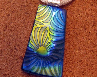 Dichroic Glass Pendant - Fused Glass Pendant - Dichroic Jewelry - Glass Jewelry