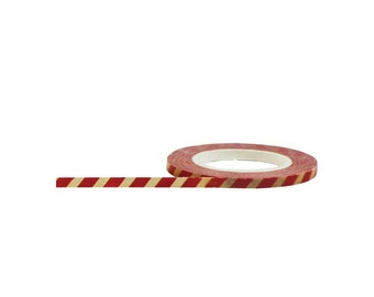 Red & Antique Stripe, Little B Decorative Paper Tape 3mmX15m