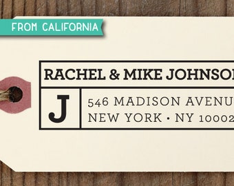 SALE custom address STAMP with proof from USA, Eco Friendly Self-Inking stamp, return address stamp, custom stamp, monogram custom stamp 205