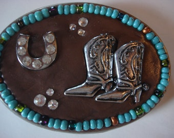Cowgirl Up - Belt Buckle