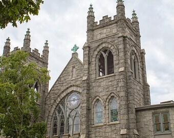 Church Photograph, Canvas Gallery Wrap or Print, Architecture Photography, Historic Richmond Photo, RVA Decor, Monument Avenue Art - Faith