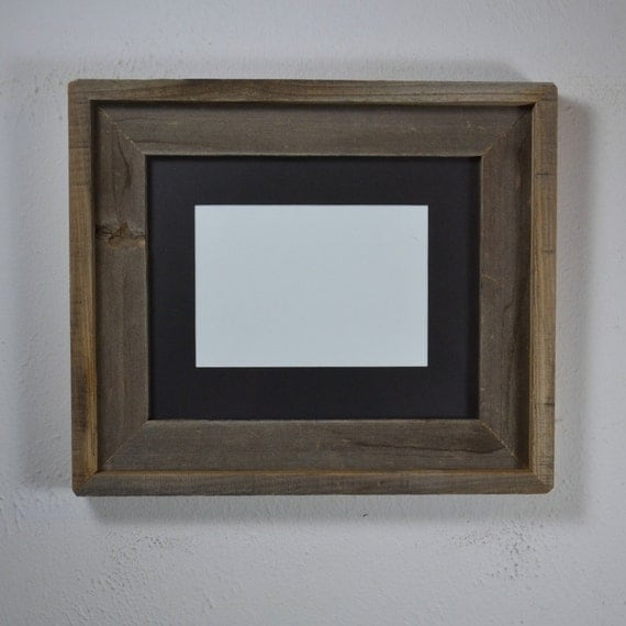 8x10 wood picture frame with 5x7 or 6x8 mat ready to by barnwood4u. Black Bedroom Furniture Sets. Home Design Ideas