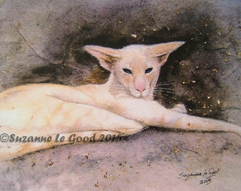 Cream Tabbypoint SIAMESE CAT PRINT -   Limited Edition, signed by Suzanne Le Good