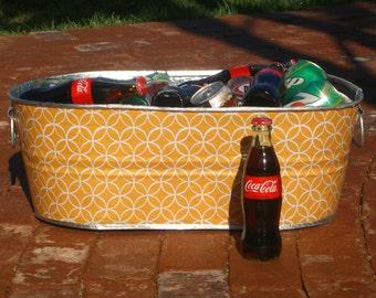 NEW Sunburst Pinwheels X-Large Oval Galvanized Metal Beverage Tub