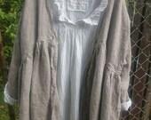 Oversized Oatmeal European Linen Jacket Made to Order