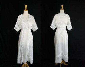 Antique Edwardian Tea Gown Dress Vintage Dream