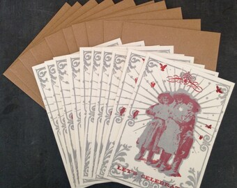 10 Letterpressed Cowgirl Graduation Invitations and Envelopes
