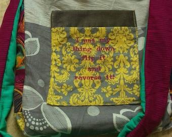 ON SALE Work It-Missy Elliott- Flip it & Reversible Messenger Hobo Patchwork Bag