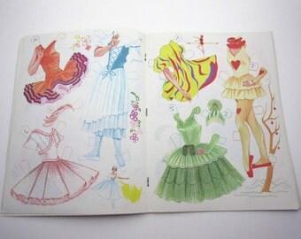 Vintage Paper Doll Book for Children Featuring Ballerinas Ballet