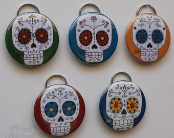 Sugar Skull Keychain bottle opener