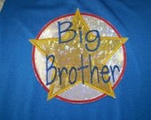 Big Brother or Big Sister  Colorful Circle with Star Emblem SuperHero Cape in great bright colors