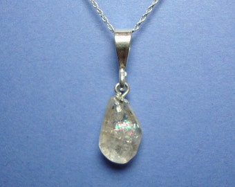 Quartz Crystal sterling silver pendant with chain