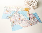 Vintage Map Envelope Assortment Set Of 12 Size A2 Or Letter