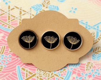 10 pcs handmade parsley - earrings, pendant, ring - 12mm (PW-061)