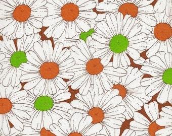 2.5 yards Vintage Daisy Print Cotton Fabric
