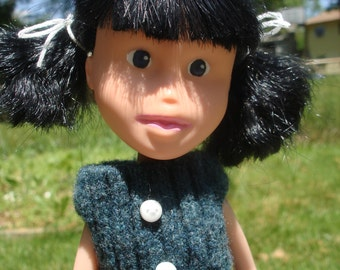 Made Under Rescued Bratz Doll Repainted OOAK Handmade Clothes Reclaimed Upcycled Sweater