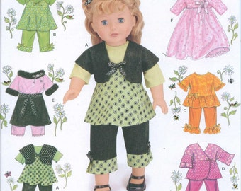 Simplicity 2458 American Girl 18 Inch Doll Dress Sewing Pattern Lots of Options