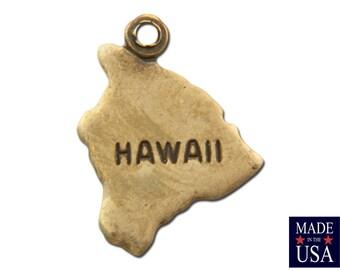Brass Ox Tiny Hawaii State Charm Drops 14x11mm (2) chr204PP