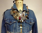 Beautiful Garbage Bib Necklace OOAK