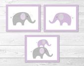 Cute Elephant Nursery Wal...