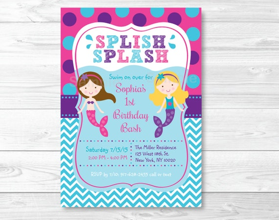 Mermaid birthday invitation mermaid birthday invite mermaid il570xn filmwisefo